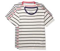 Three-pack Striped Cotton-jersey T-shirts