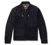 Suede Jacket - Navy