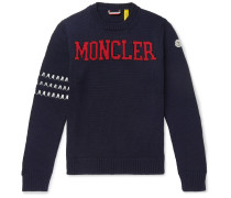 2 Moncler 1952 Logo-intarsia Virgin Wool Sweater