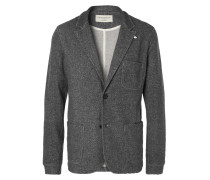 Charcoal Unstructured Mélange Woven Blazer