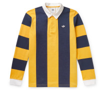 Twill-trimmed Striped Cotton-jersey Rugby Shirt - Yellow