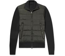 Shell-panelled Merino Wool Down Jacket - Green