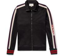 Webbing-trimmed Tech-jersey Track Jacket