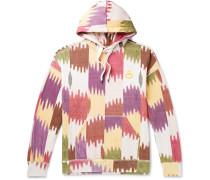 Viley Printed Fleece-Back Cotton-Jersey Hoodie