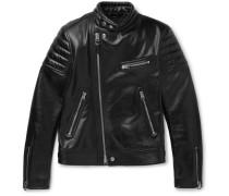 Slim-fit Leather Jacket - Black