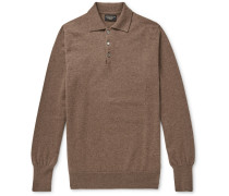Cashmere Polo Shirt - Brown