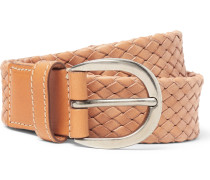 3cm Sand Woven Leather Belt