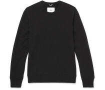 Slim-fit Loopback Cotton-jersey Sweatshirt - Black