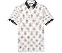 Polka-dot Cotton-piqué Polo Shirt