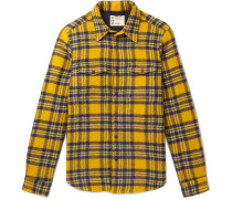 Checked Virgin Wool Overshirt