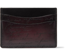Bambou Leather Cardholder - Burgundy