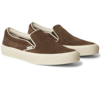 Cambridge Burnished-Leather Slip-On Sneakers