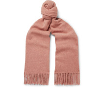 Canada Fringed Mélange Wool Scarf - Pink