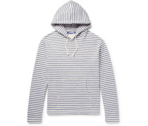 Striped Loopback Cotton-jersey Hoodie