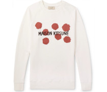 Printed Loopback Cotton-jersey Sweatshirt - Ivory