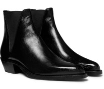 Dakota Polished-leather Chelsea Boots - Black