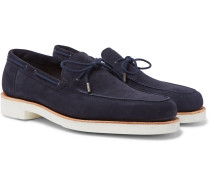 Byrne Suede Loafers - Navy