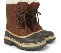 Caribou Shearling-lined Waterproof Leather Snow Boots
