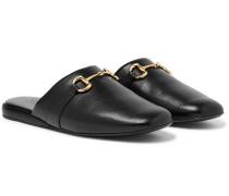 Pericle Horsebit Leather Slippers