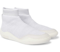 Stretch-knit High-top Sneakers