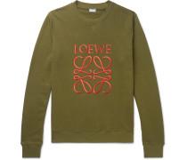 Slim-Fit Logo-Embroidered Loopback Cotton-Jersey Sweatshirt
