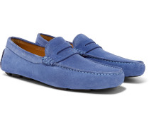 Suede Driving Shoes - Blue