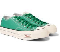 Skagway Leather-trimmed Canvas Sneakers - Green