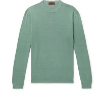 Slim-Fit Linen and Cotton-Blend Sweater