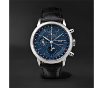 Classima Automatic Chronograph 42mm Stainless Steel and Alligator Watch, Ref. No. M0A10484