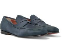 Nubuck Penny Loafers - Storm blue