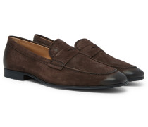 Oiled-suede Loafers