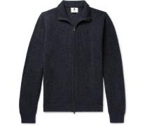 Garcia Mélange Baby Alpaca-Blend Zip-Up Sweater