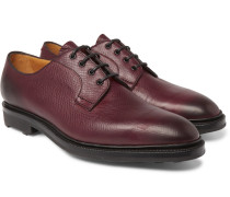 Caudale Textured-leather Derby Shoes