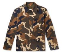 Camouflage-Print Cotton-Twill Overshirt