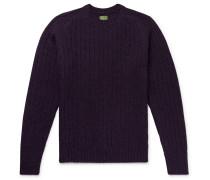 Slim-Fit Ribbed Mélange Shetland Wool Sweater