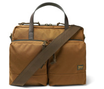 Dryden Leather-trimmed Nylon Briefcase - Tan