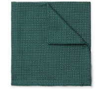 Pin-dot Wool And Silk-blend Pocket Square