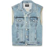 Appliquéd Denim Gilet