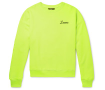 Embroidered Loopback Cotton-jersey Sweatshirt - Yellow