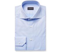 Light-blue Cutaway-collar Cotton Shirt