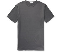 Superfine Cotton-jersey T-shirt - Dark gray