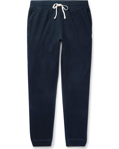 Slim-fit Cotton-jersey Sweatpants - Navy