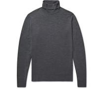 Cherwell Merino Wool Rollneck Sweater - Charcoal