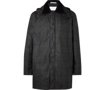 Trondheim Corduroy-trimmed Checked Waxed-cotton Jacket