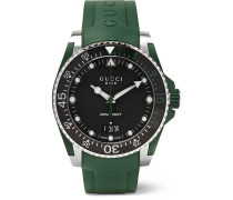 Dive 40mm Stainless Steel And Rubber Watch