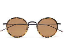 Round-frame Tortoiseshell Acetate And Metal Sunglasses