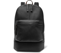Volume Mm Leather Backpack - Black