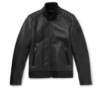 Westlake Leather-trimmed Shearling Jacket