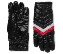 Striped Quilted Shell Gloves