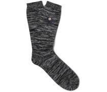 Mélange Stretch Cotton-blend Socks